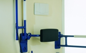 Safety grab bar folding
